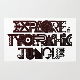 Explore The Typographic Jungle Rug