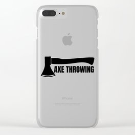 Axe throwing throwing Tomahawk double ax gift Clear iPhone Case
