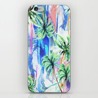 palm trees iPhone & iPod Skins featuring Palm trees by Nikkistrange