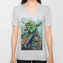 Yoda Painting Unisex V-Neck