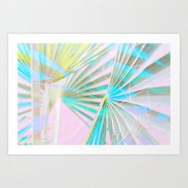 nº5 neon light palms Art Print