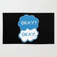 tfios Area & Throw Rugs featuring TFIOS Dots by All Things M