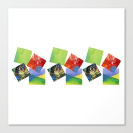 Painted Squares Jiggle Canvas Print