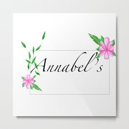 Names.Personalised gift ideas.Annabel Metal Print