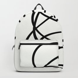 Come Together - Black and white, minimalistic, abstract, art print Backpack