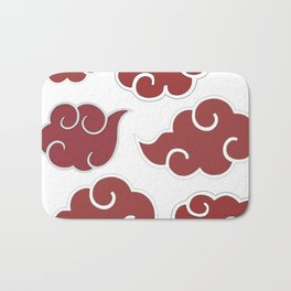 Akatsuki Clouds from Naruto Shippuden Red and White Bath Mat