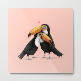 Toucan Love Metal Print