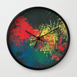 Impulsive Color Splash Toddler Art Wall Clock