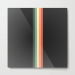 Racing Team Monaco - Minimal Retro Look Stripes Metal Print