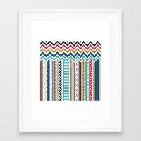 tribal Framed Art Prints featuring Tribal by Kakel