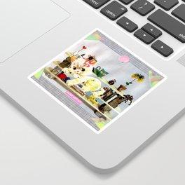 Home Crafts handcut collage Sticker
