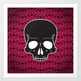 Pink Skull Art Print