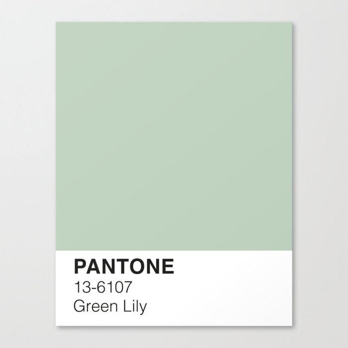 Green Lily Pantone Leinwanddruck