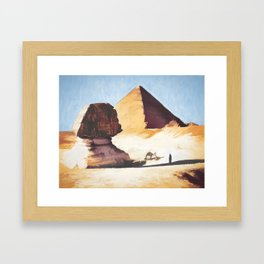 The Great Sphinx And Pyramid Framed Art Print