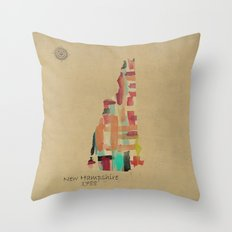 new hampshire state map Throw Pillow