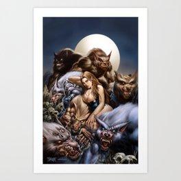 """Ravenous """"QUEEN of WOLVES""""  Art Print"""