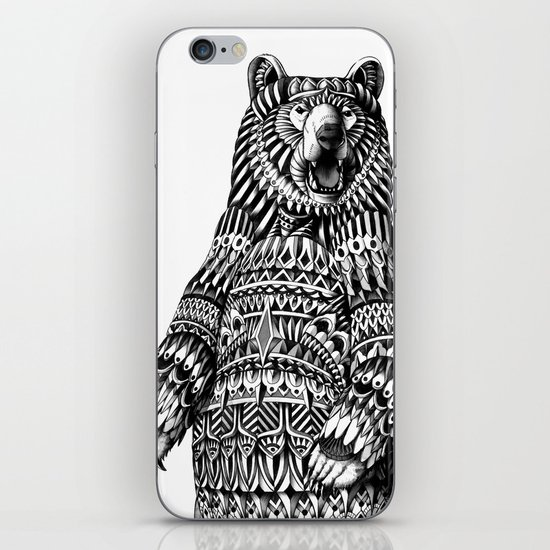 Ornate Grizzly Bear iPhone & iPod Skin