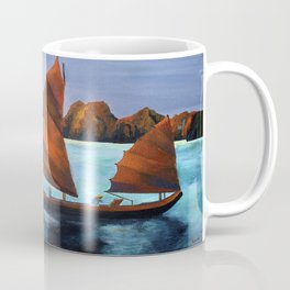 Junks In the Descending Dragon Bay Coffee Mug
