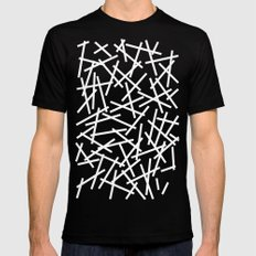 Kerplunk Navy and White Mens Fitted Tee MEDIUM Black