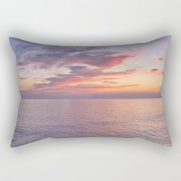 Carvoeiro at dusk in winter Rectangular Pillow