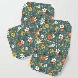 bright fun floral pattern Coaster