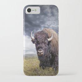 Plains Buffalo on the Prairie iPhone Case