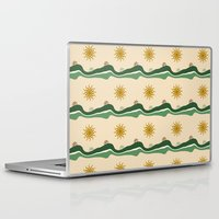 bikes Laptop & iPad Skins featuring Bikes Pattern by Christina Rollo