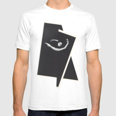 Caught in Flux Mens Fitted Tee LARGE White