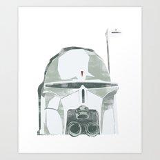Ralph McQuarrie concept Boba Fett Art Print
