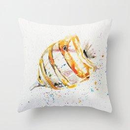 fish watercolor, watercolor, ocean fish, Throw Pillow