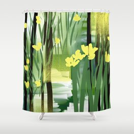Afternoon Marsh Shower Curtain