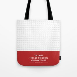 Lab No. 4 - Wayne Gretzky Hockey Player Quotes Poster Tote Bag