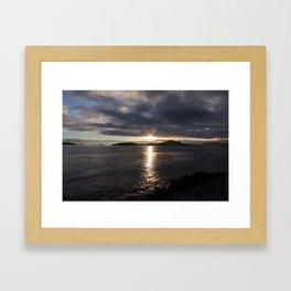 SUNSET AT SITKA Framed Art Print