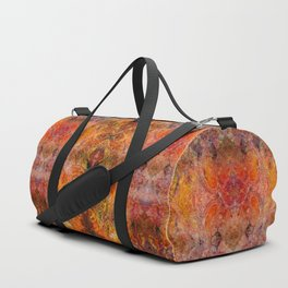 Abstract acrylic sunburst v1 Duffle Bag