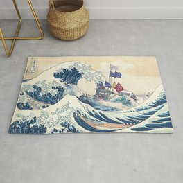 In The Well of the Great Blue Wave Rug