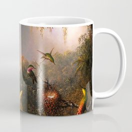 Martin Johnson Heade Cattleya Orchid and Three Brazilian Hummingbirds Coffee Mug