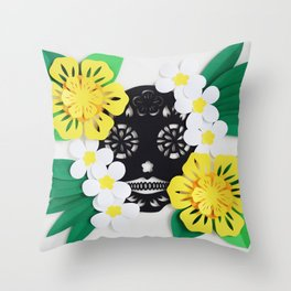 Calavera 2 Throw Pillow