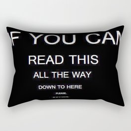 if you can read this new 2018 word typography art funny words fun Rectangular Pillow
