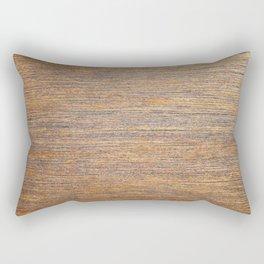 Rustic brown gold wood texture Rectangular Pillow