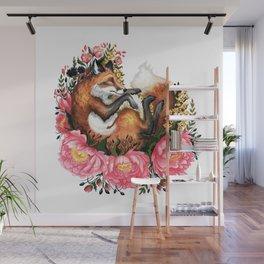 Flora and Fauna Fox Wall Mural