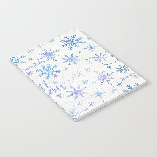 Let It Snow Winter Pattern Notebook
