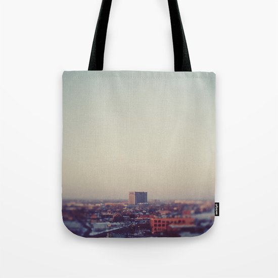 Morning Over Detroit Tote Bag