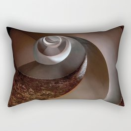 Spiral staircase in an old lighthouse Rectangular Pillow