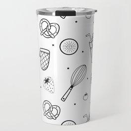 Modern Juice Pattern Travel Mug
