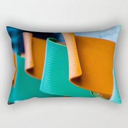 Blue Green and Orange Abstract Rectangular Pillow