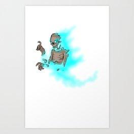 Soul Decaying Ghoul Art Print