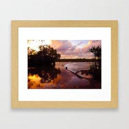 Sunset on Ivanhoe Crossing Framed Art Print