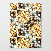 barcelona Canvas Prints featuring Barcelona by kociara