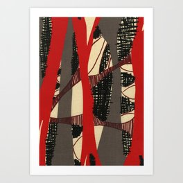 Coronary Contemporary 3 Art Print