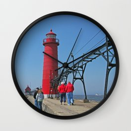 Lighthouse Walk Wall Clock